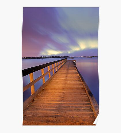 Jetty At Dawn  Poster