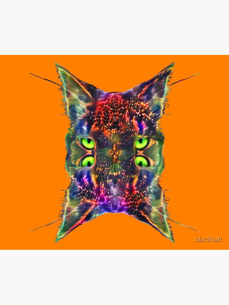 Artificial neural style Space galaxy mirror cat by blackhalt