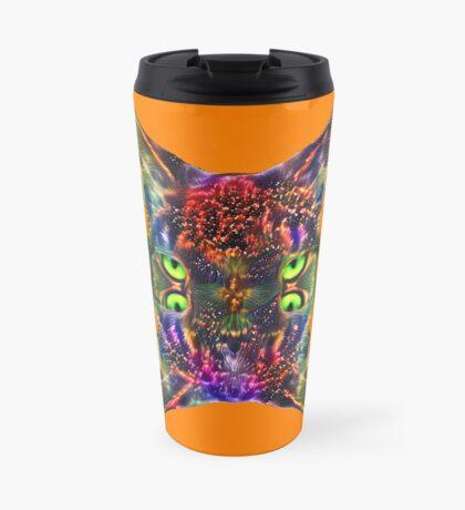 Artificial neural style Space galaxy mirror cat Travel Mug