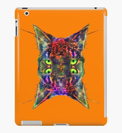 Artificial neural style Space galaxy mirror cat iPad Case/Skin