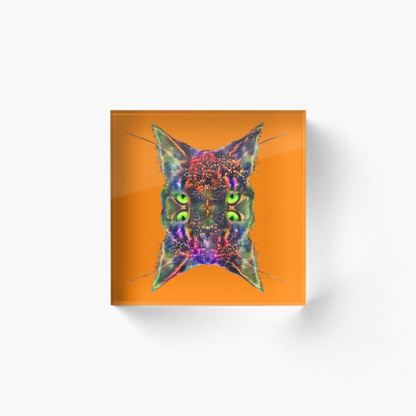 Artificial neural style Space galaxy mirror cat Acrylic Block