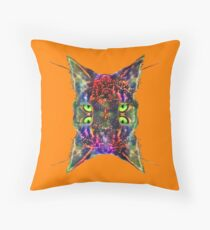 Artificial neural style Space galaxy mirror cat Floor Pillow