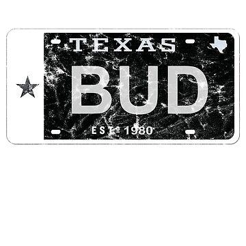 Bud Texas Plate by Flash-Jordan