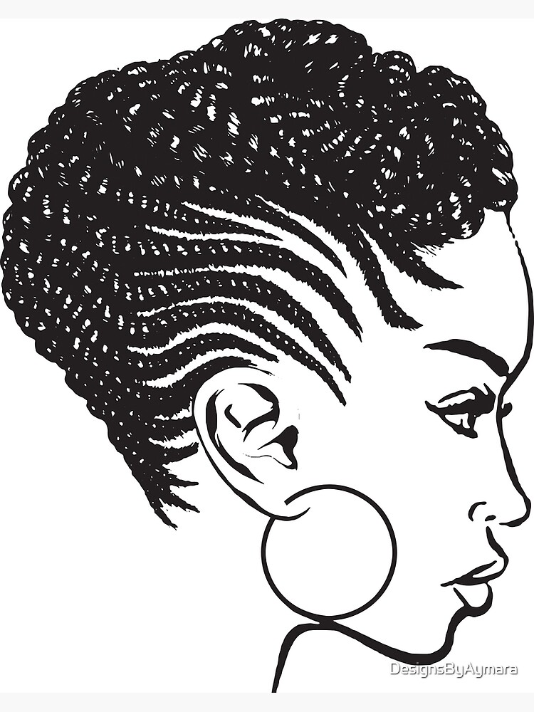 African American Braids Hairstyle Black Woman Beauty Salon Greeting Card By Designsbyaymara Redbubble
