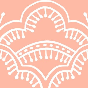 Scallop Lace Batik, Coral Peach Pink by ThistleandFox