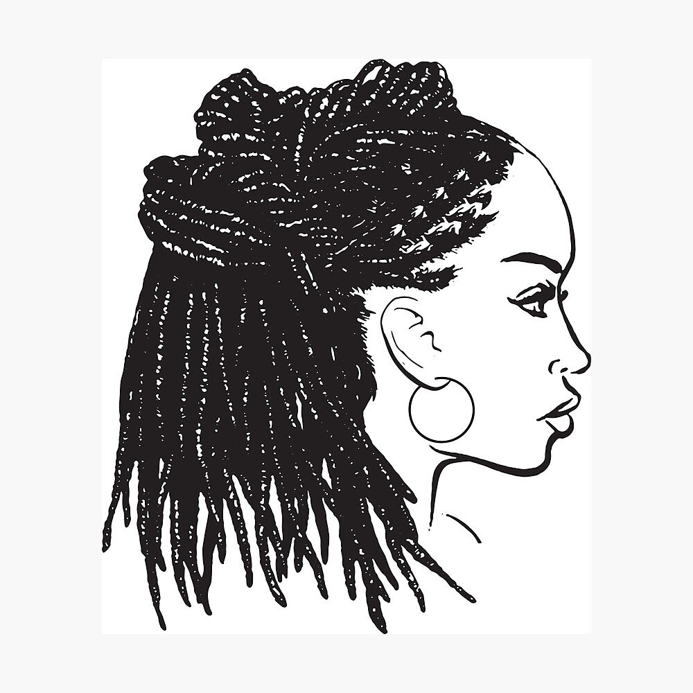 Black Woman Braids Dreads Dreadlocks African American Beauty Salon Poster By Designsbyaymara Redbubble