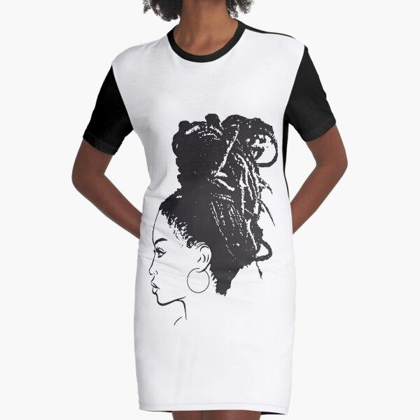 Black Woman African American Braids Dreads Dreadlocks Beauty Salon Graphic T-Shirt Dress