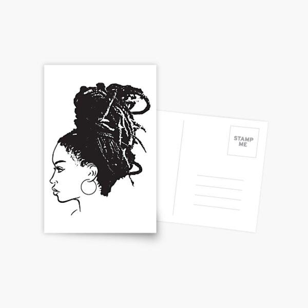 Black Woman African American Braids Dreads Dreadlocks Beauty Salon Postcard