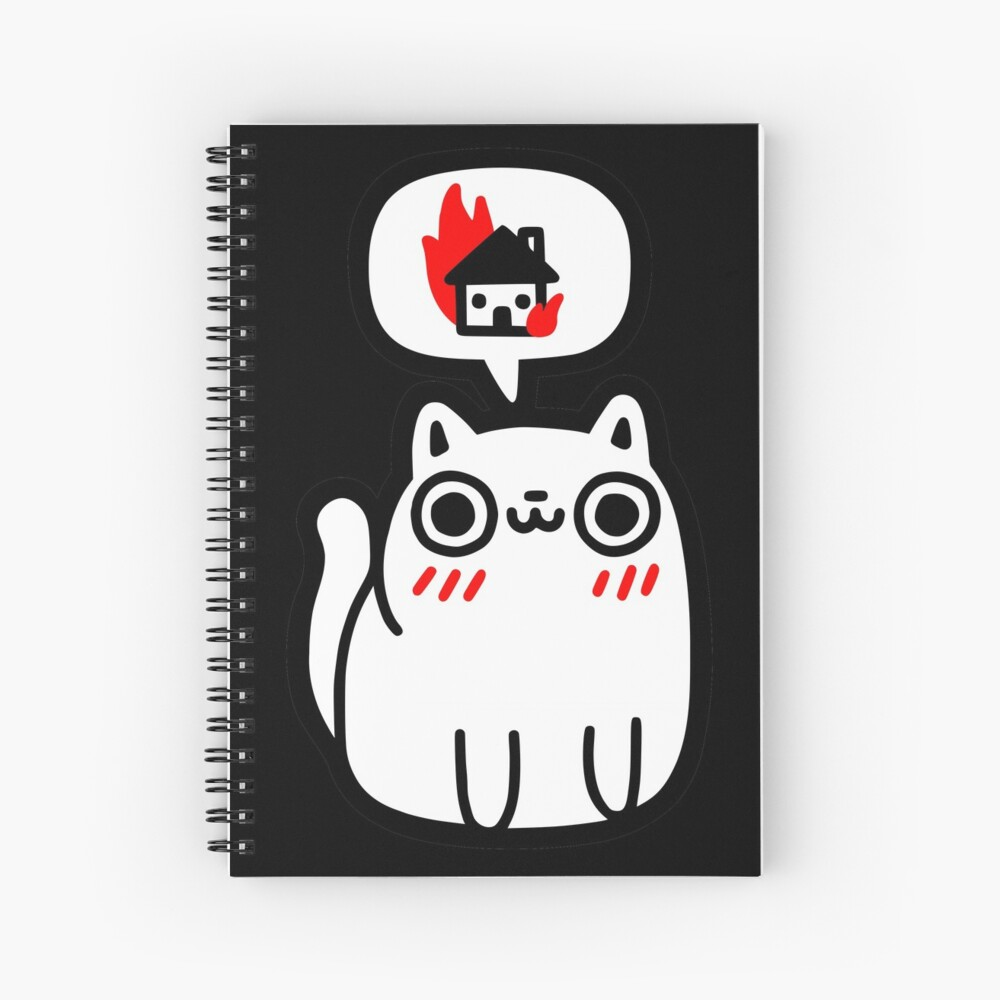 Dreaming Of Destruction Spiral Notebook