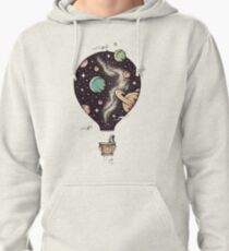 Hot air balloon Art / Space Style  Pullover Hoodie