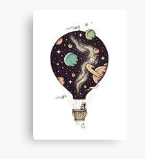 Heißluftballon Art / Space Style Leinwanddruck