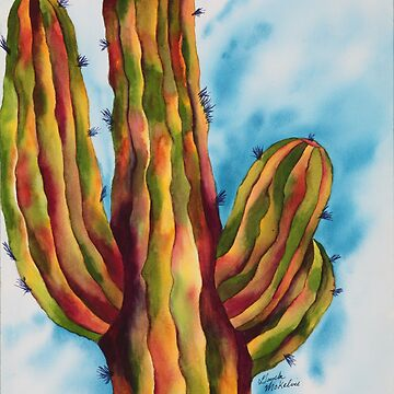 Vivid and Majestic Saguaro by GayelaChapman