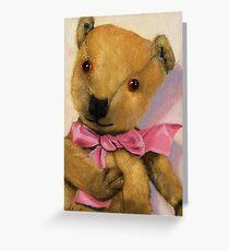 Barney - antique teddy bear portrait Greeting Card