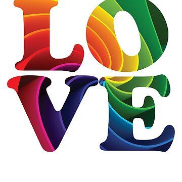 Love Rainbow Flag LGBT Gay Pride 2 by BOBSMITHHHHH