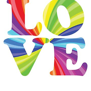 Love Rainbow Flag LGBT Gay Pride 3 by BOBSMITHHHHH
