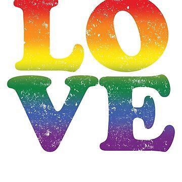Love Rainbow Flag LGBT Gay Pride 5 by BOBSMITHHHHH
