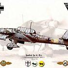 Junkers Ju 87 B- 2, 3. StG 2 by AH-Aviation-Art