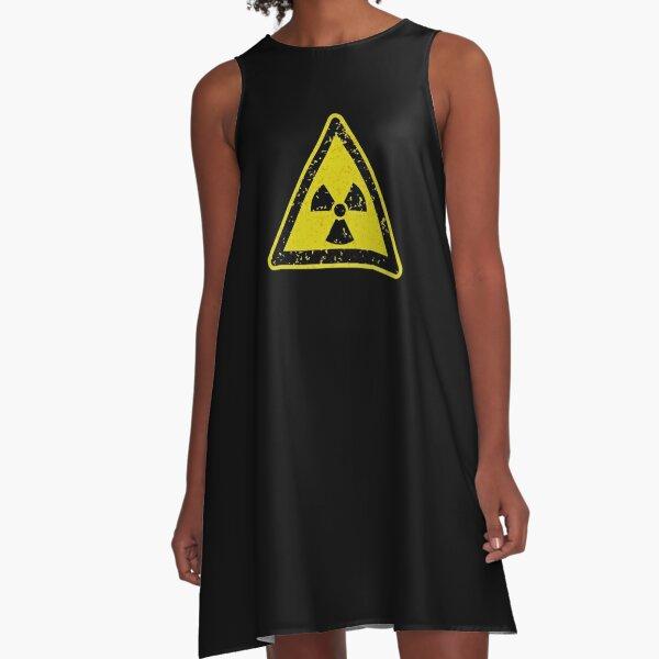 Radiation Hazard Warning Sign A-Line Dress