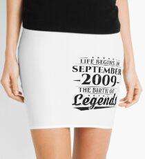 Life Begins In September 2009 Birth Of Legends 9th Bday Mini Skirt