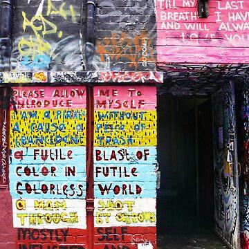 Graffiti - A Futile Blast of Colour... by rozmcq