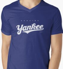 GenuineTee - Yankee (white) Men's V-Neck T-Shirt