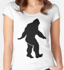 Bigfoot Silhouette  Women's Fitted Scoop T-Shirt