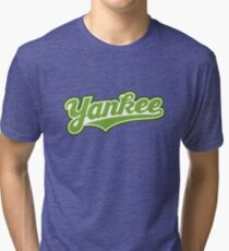 GenuineTee - Yankee(greenwhitegreen) Tri-blend T-Shirt