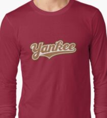 GenuineTee - Yankee (brownwhitebrown) Long Sleeve T-Shirt