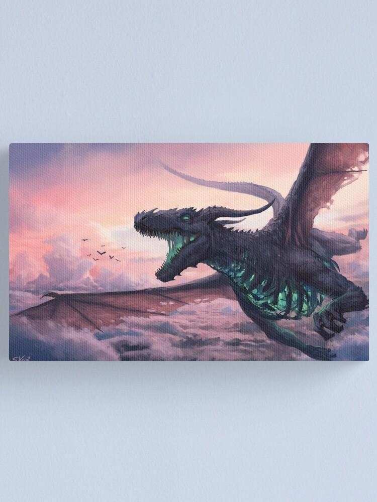 Alternate view of Sky Dragon Canvas Print