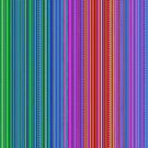 Abstract rainbow dots and lines by Anastasia Helten