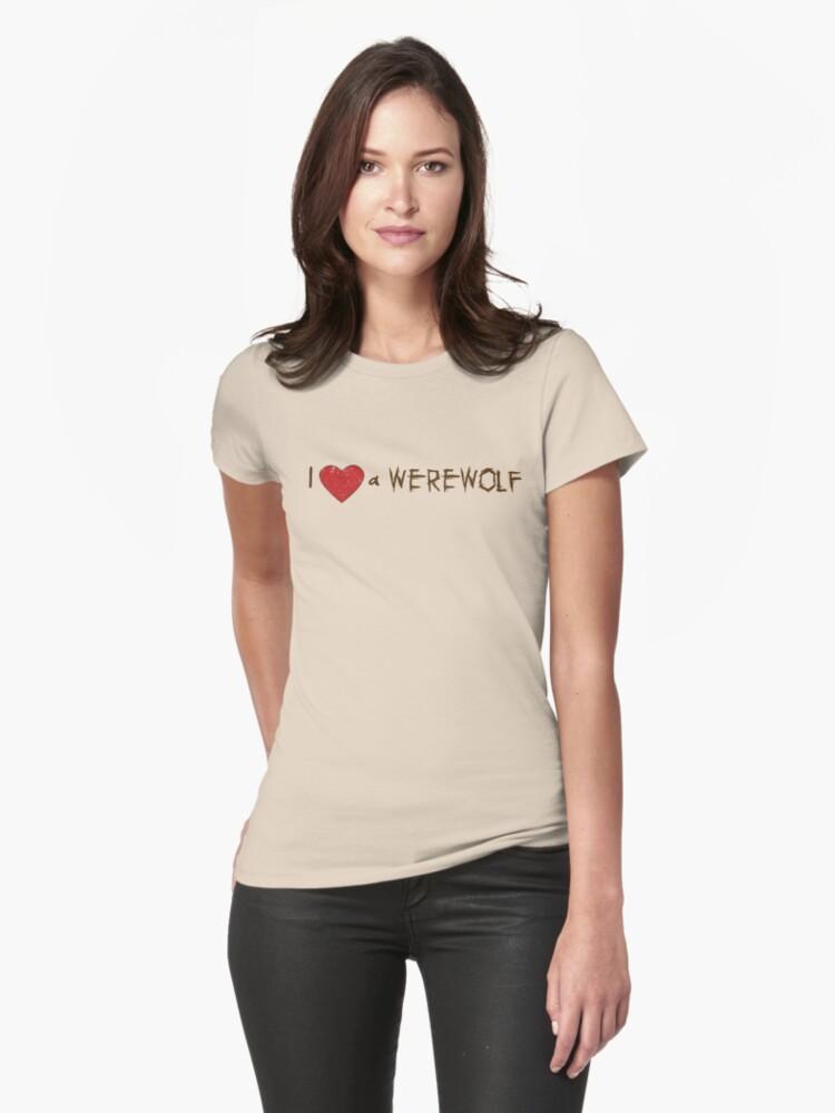 I Love (Heart) a Werewolf Twilight T-Shirt by fifilaroach