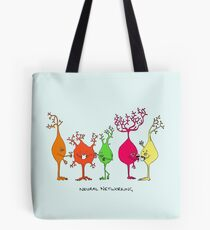 Neural Networking Tote Bag