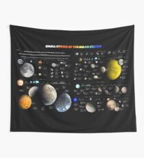 Small bodies of the Solar System — map Wall Tapestry