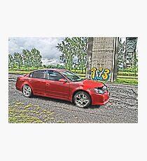 Nissan Altima HDR Photographic Print