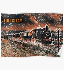 Full Steam - The Vintage Train Poster