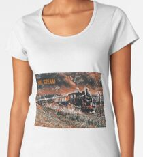 Full Steam - The Vintage Train Women's Premium T-Shirt