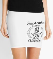 September 9th Birthday 2009 9 Years Of Being Awesome Mini Skirt