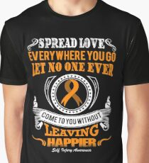 Spread Love Everywhere You Go! Self Injury Awareness  Graphic T-Shirt