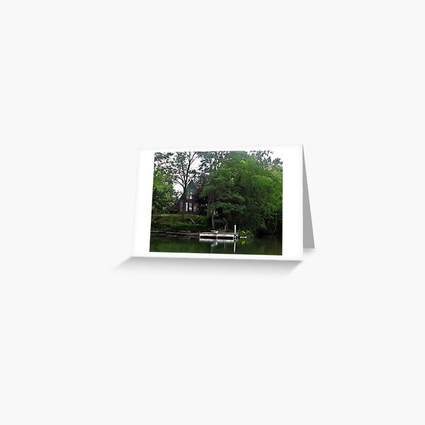 A-Frame Lake House Greeting Card