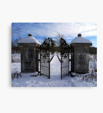 Behind the Open Gate Canvas Print