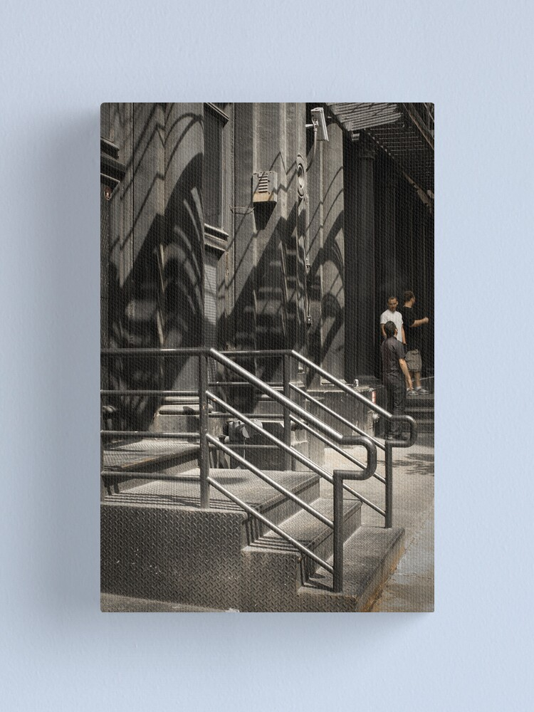 Alternate view of Shadows in New York - white street Canvas Print