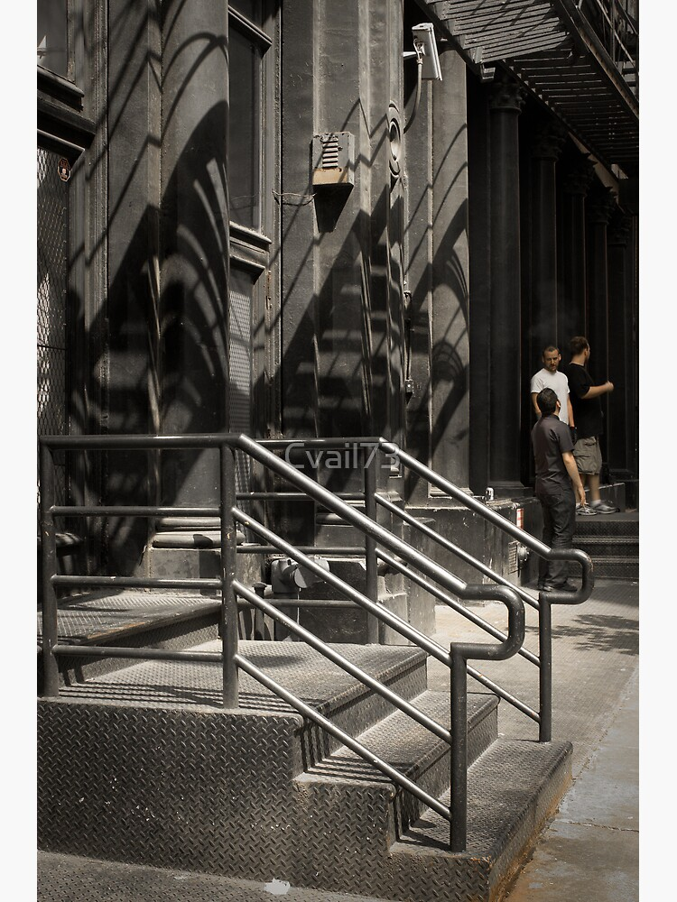 Shadows in New York - white street by Cvail73