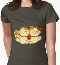 """FortuNeko - """"Toffee & Candy"""" Womens Fitted T-Shirt"""