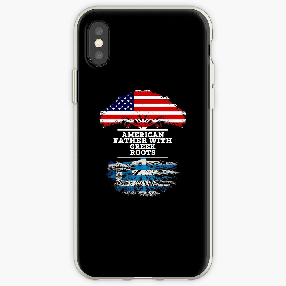 American Father With Greek Roots - Gift For Greek Dad Funda y vinilo para iPhone