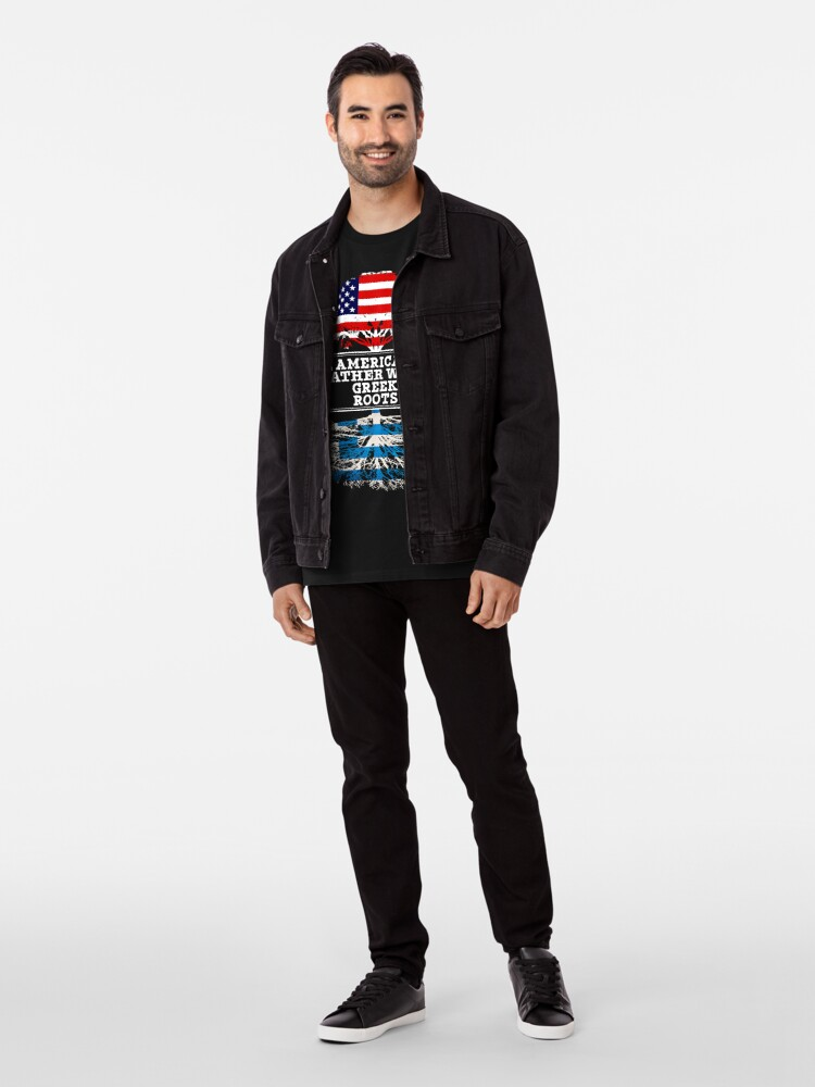 Vista alternativa de Camiseta premium  American Father With Greek Roots - Gift For Greek Dad