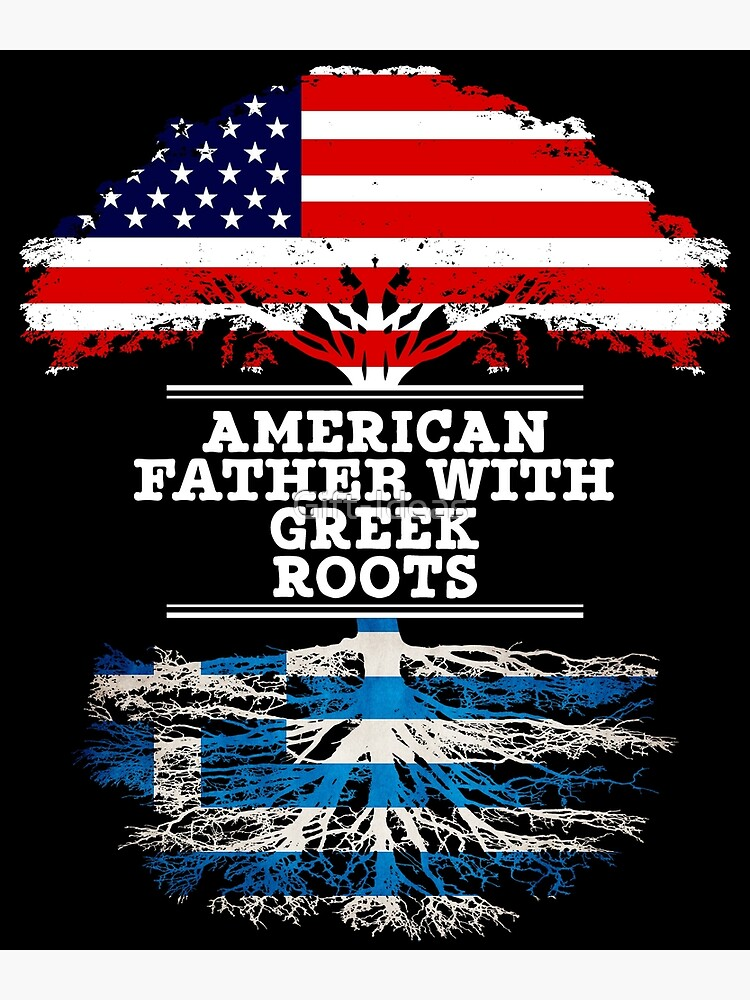 American Father With Greek Roots - Gift For Greek Dad de Gift-Ideas