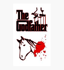 The Godfather Horse Head Photographic Print