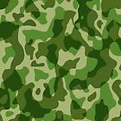 Green Camouflage Army Military Pattern by BluedarkArt