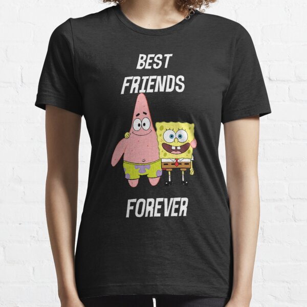 Patrick & Spongebob best friends forever [white text] Essential T-Shirt