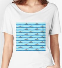 Royal Navy ships on the high seas. Women's Relaxed Fit T-Shirt
